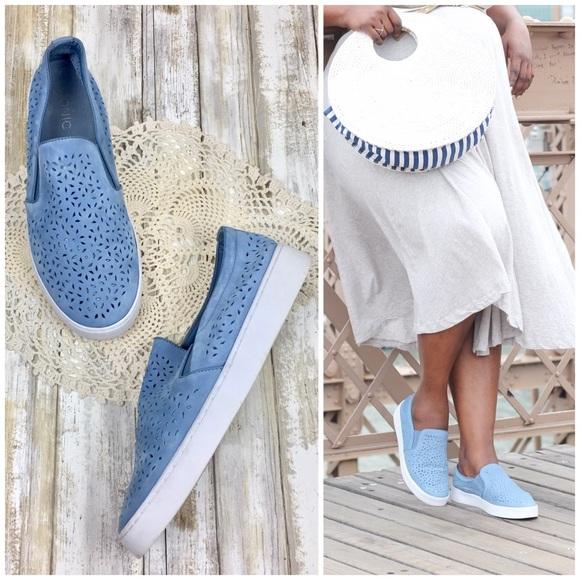 Vionic Blue Midi Perf Slipon Sneaker